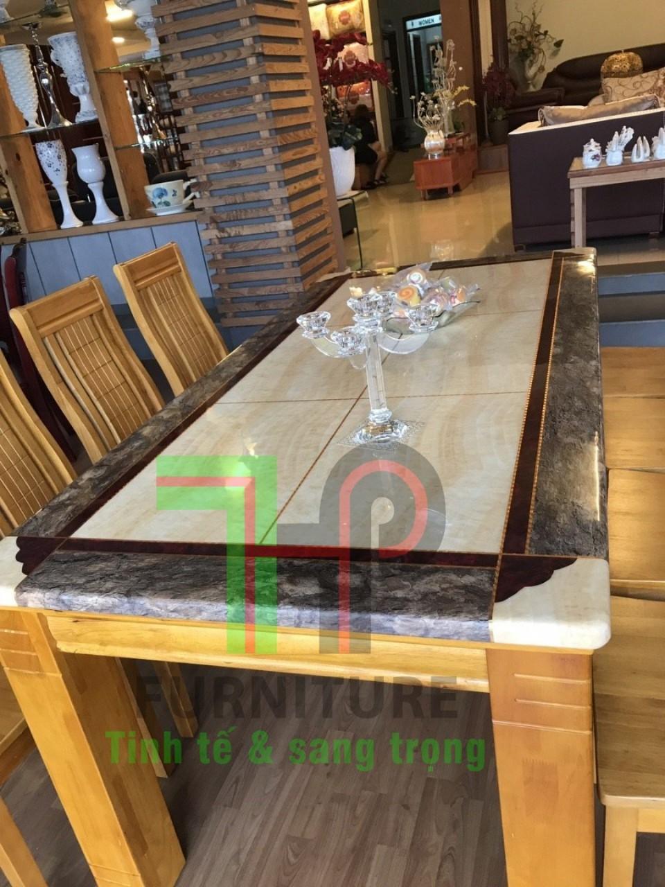 Bàn ăn mặt đá 6 ghế Hùng Thuận Phát HTP-BA 17 (Ảnh 1)