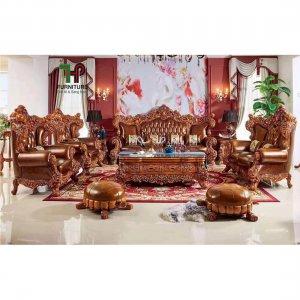 bộ bàn ghế gỗ cổ điển cao cấp