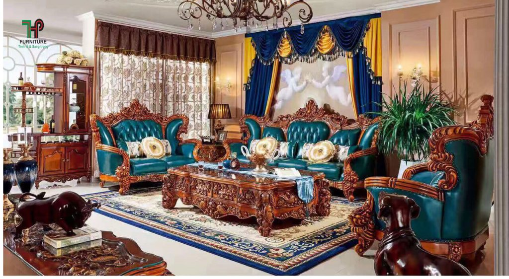 sofa cao cấp cổ điển