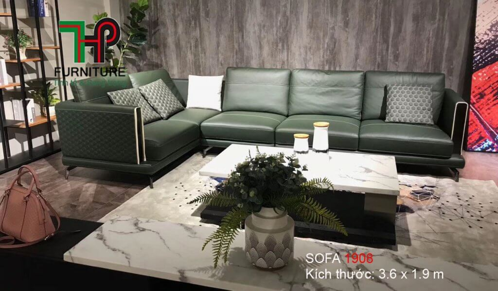 sofa da nhập khẩu cao câp