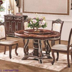 bàn ghế ăn tân cổ điển 711