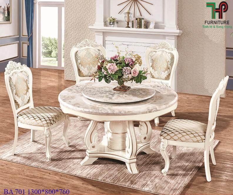 bàn ghế ăn tân cổ điển 701