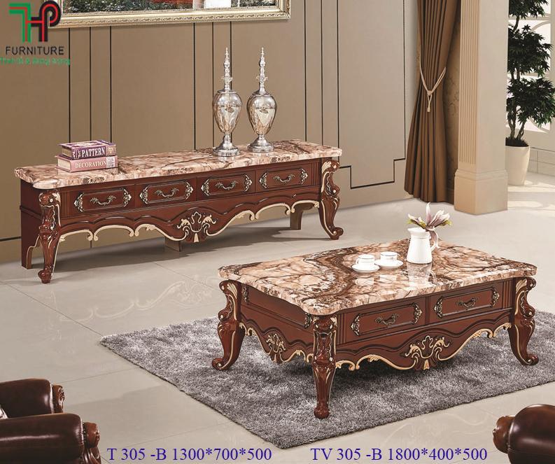 bàn trà sofa cổ điển