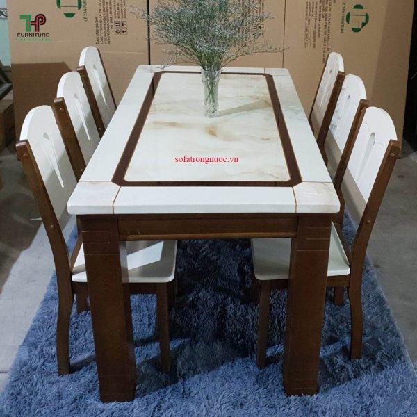 bàn ghế ăn mặt đá hiện đại đẹp
