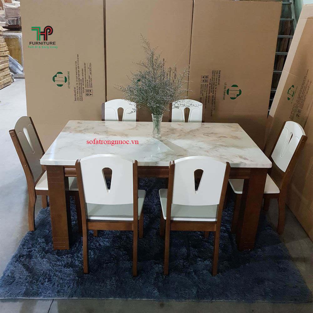 bàn ghế ăn mặt đá