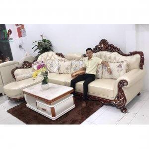 sofa góc tân cổ điển