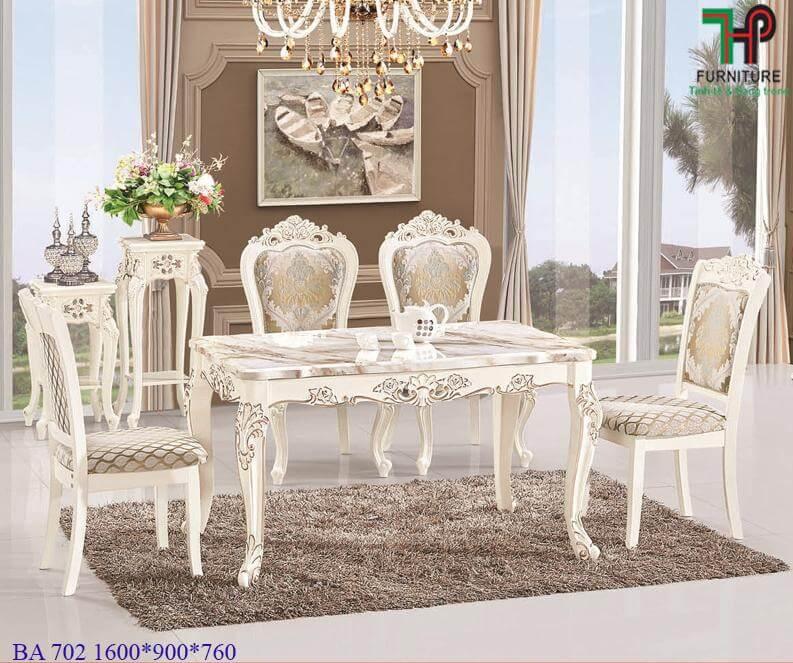 bàn ghế ăn tân cổ điển 702