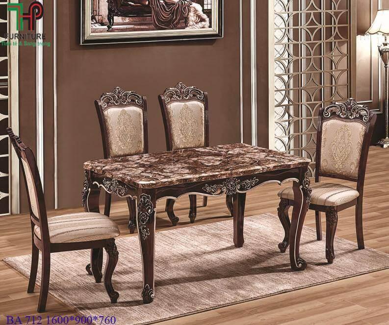 bàn ghế ăn tân cổ điển 712