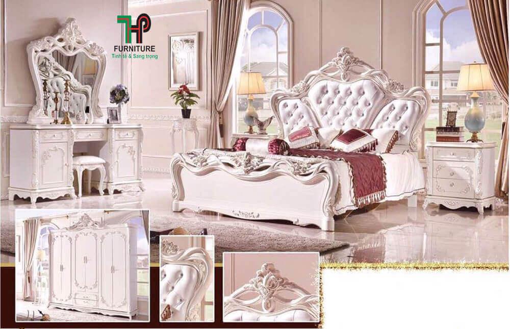 giường tân cổ điển nhập khẩu