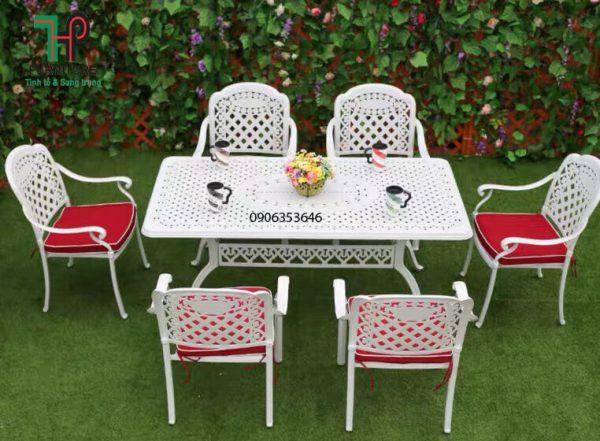 bàn ghế sân vườn nhôm đúc nhập khẩu