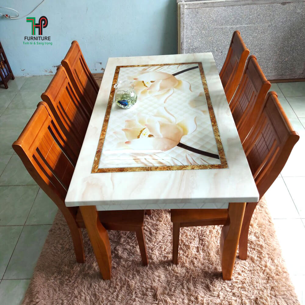 Bàn ghế phòng ăn mặt đá TPHCM