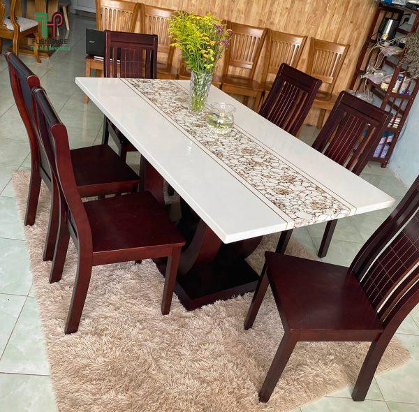 bàn ăn mặt đá 6 ghế (1)