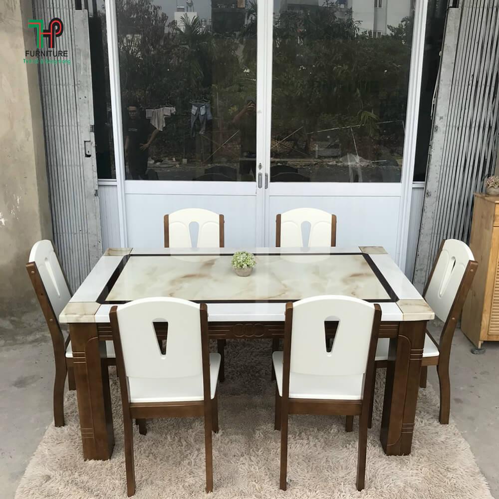 bàn ghế ăn gỗ 6 ghế tphcm