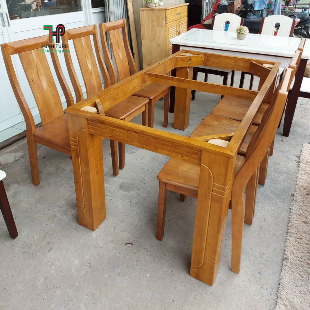 khung gỗ bàn ăn