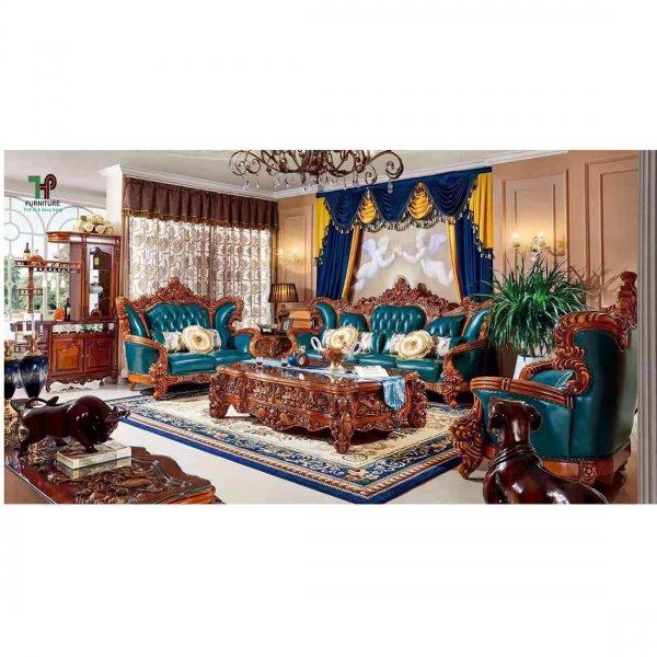 Sofa gỗ cao cấp nhập khâu cổ điển