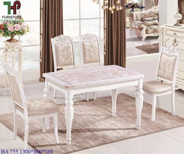 bàn ghế ăn tân cổ điển 755