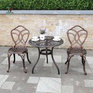 bộ bàn ghế sân vườn tròn