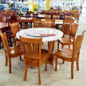 bàn ăn tròn mâm xoay TPHCM